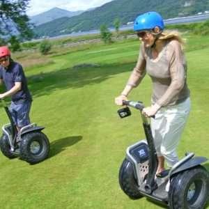 Segway riders enjoying an experience at Woodlands Glencoe activity centre, Scotland