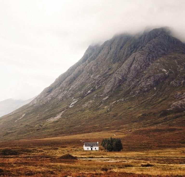 The little white house, Glencoe, Scotland